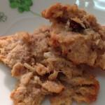 小麦抜き、玄米フレークで、簡単グルテンフリーのクッキーを作ってみた。