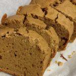 小麦抜きのパウンドケーキ、玄米粉と大豆プロテイン入り